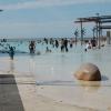 """Pool mitt i stan eftersom ingen badar i havet för """"the crocs"""""""