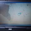 Så här såg det ut på sjökortet på väg in till Mackay