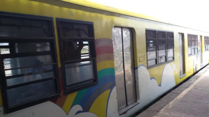 Färggranna tåg
