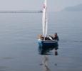 Oskar och Anton har en hård segling i bukten