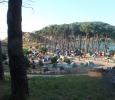 Camping på fin ö.