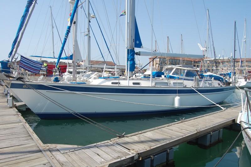 Hallberg rassy är en ganska vanlig långfärdsbåt