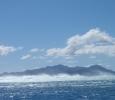 Häftiga vågor bygger upp vid revet